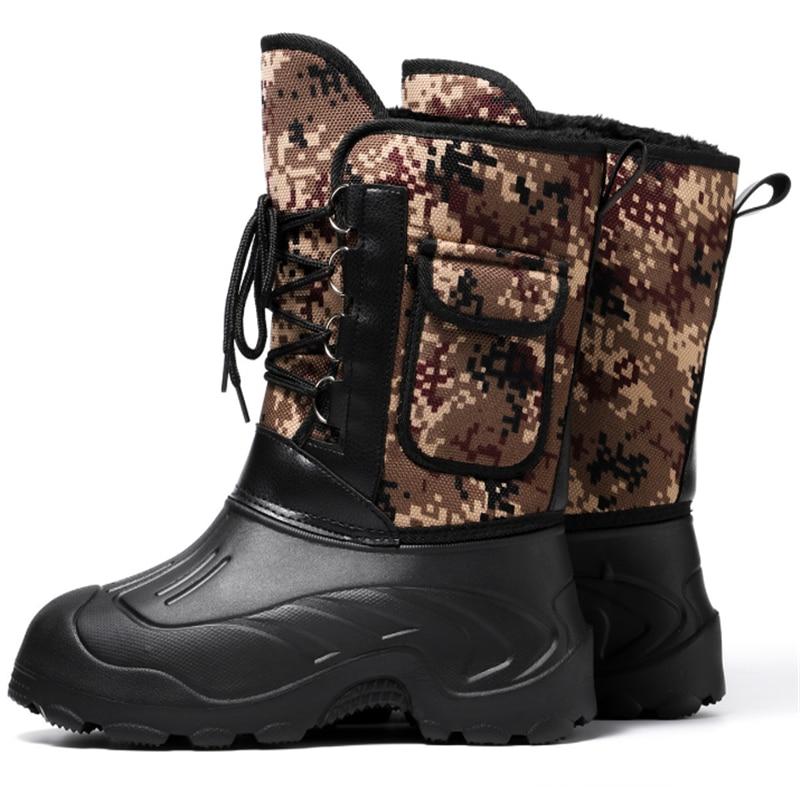 סופר חם שלג מגפי לבנים פלטפורמת הסוואה הדפסת ילדי מגפי בנות עמיד למים נעלי צבא מגפיים ירוקים