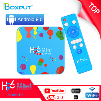 Latest Top Sell Newest 4G 128GB Android Tv Box H96 MINI H6 Android 9.0 Allwinner H6 Chipset Set Top Smart TV Box 4K H.265 TV Box
