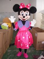 Classic Version Pink dot skirt mouse girl Mascot Costume Adult Halloween Birthday party cartoon Apparel Cosplay Costumes