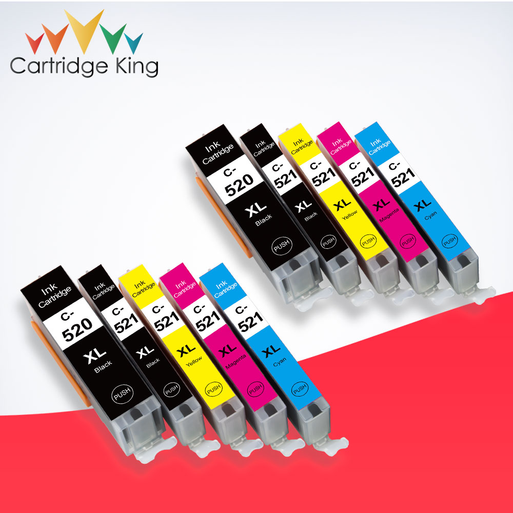 10PK Ink Cartridge PGI-520 CLI-521 for <font><b>Canon</b></font> <font><b>PIXMA</b></font> <font><b>IP3600</b></font> IP4600 IP4700 MX860 MX870 MP540 MP550 MP560 MP620 MP630 MP640 Primter image