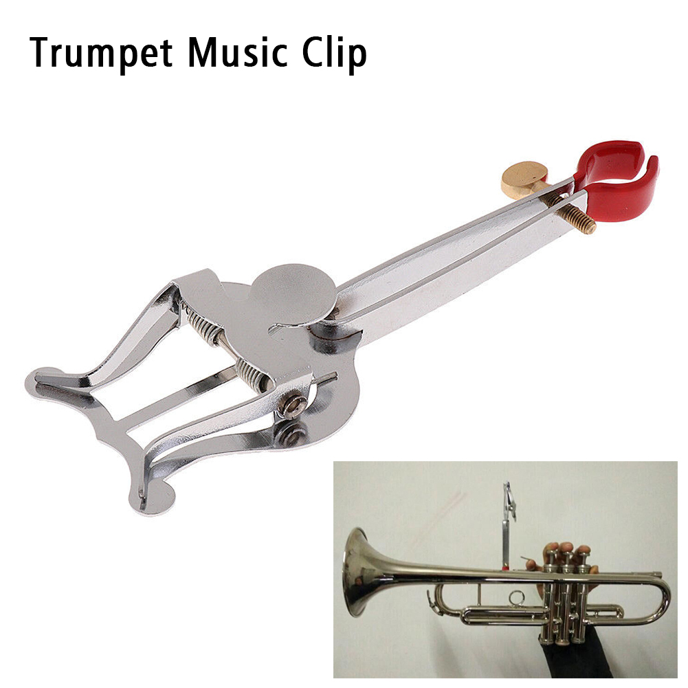 Clamp On Durable Pocket Trumpet Music Clip Marching Winch Stand Lightweight Parts Travel Stainless Steel Holder For Lyre Sheet