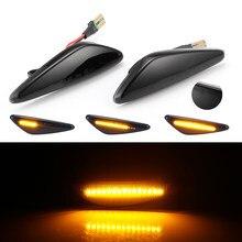 2 pçs fumaça led dinâmico fluindo lado marcador turno sinal de luz para mazda6 gh para mazda5 cw RX-8 lado sequencial marcador lâmpada luz