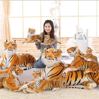 Creative Simulation Tiger Plush Doll Toy White Tiger Pillow Birthday Christmas Gift larggest size 170cm simulation tiger yellow or white prone tiger plush toy surprised birthday gift w5490