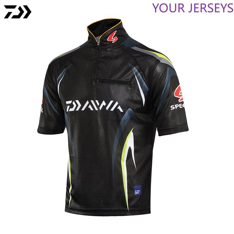 Balıkçılık gömlek balıkçılık için yaz UV koruma kısa kollu hızlı kuru bisiklet sürme nefes rahat gömlek DAIWA Pesca title=