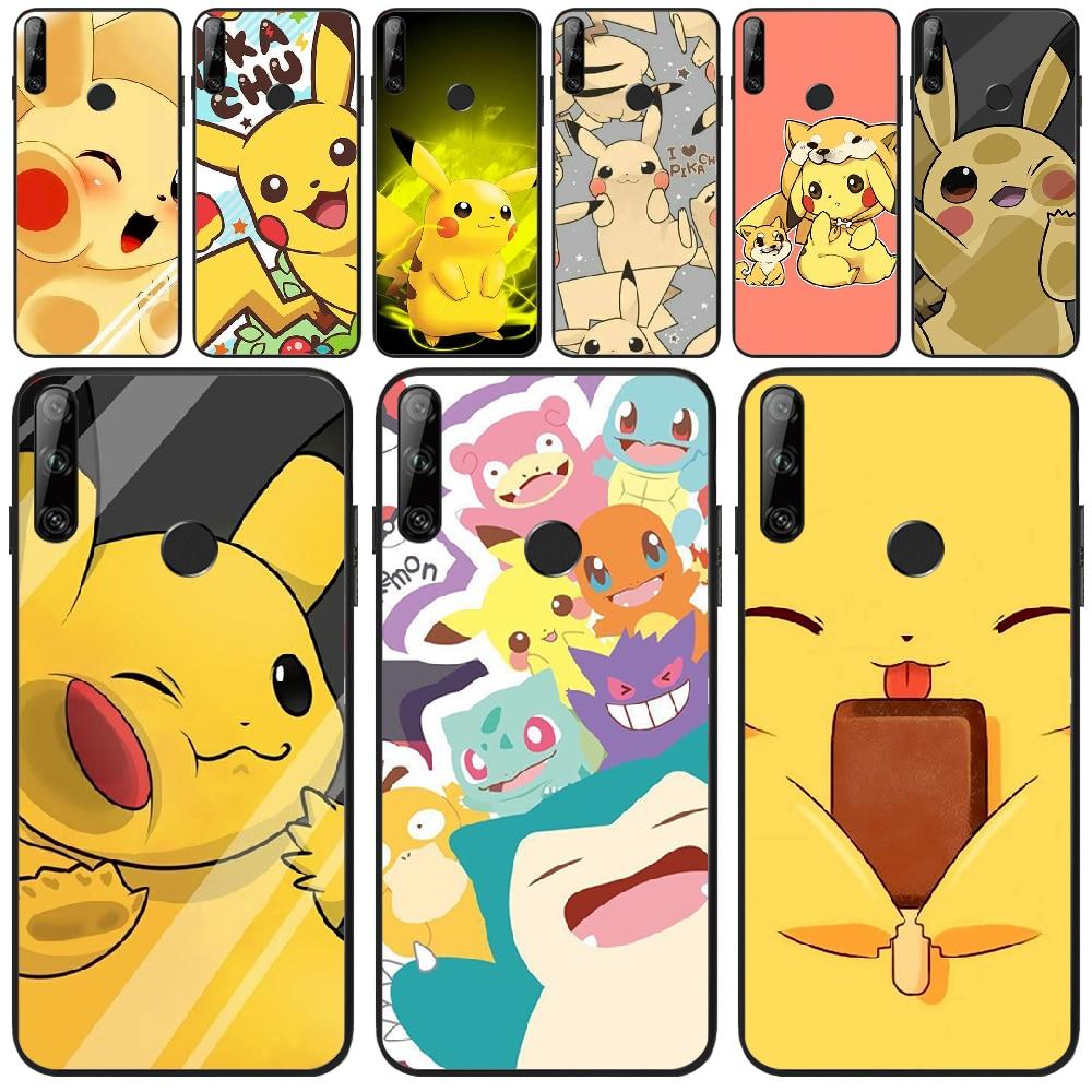 Pikachu Kawaii Coque Shell Phone Case For Huawei Y5 Y6 Y7 Y9 Prime Pro II 2019 2018