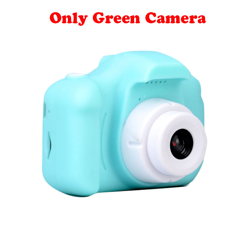 13.0MP перезаряжаемая детская мини-цифровая камера 2,0 дюймов HD экран видеомагнитофон видеокамера язык переключение тайм съемки - Цвет: Green without TF