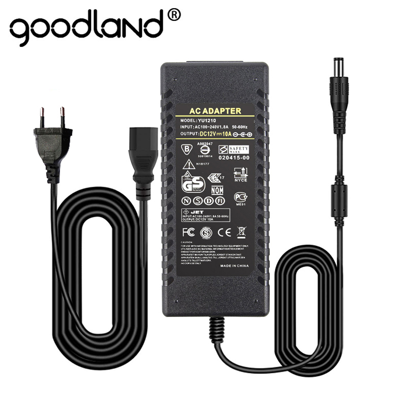 Goodland 12V Power Supply Unit DC 12V LED Driver Transformer 220V 220 <font><b>V</b></font> to DC12 Volts <font><b>12</b></font> <font><b>V</b></font> for LED Strip 1A 2A 3A 5A 6A 8A 10A image