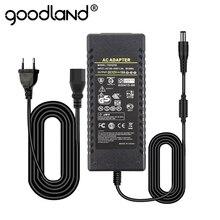 Goodland unidade de alimentação 12 v dc 12 v led, transformador de driver 220 v 220 v para dc12 volts 12 v para tira de led 1a 2a 3a 5a 6a 8a 10a