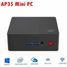 Beelink AP35 Mini-pc windows 10 Intel J3355 4GB BT 4.0 RJ45 64GB EMMC 1000M HDMI USB AP35 4k 2.4G/5G WIFI Smart Office Mini Pc