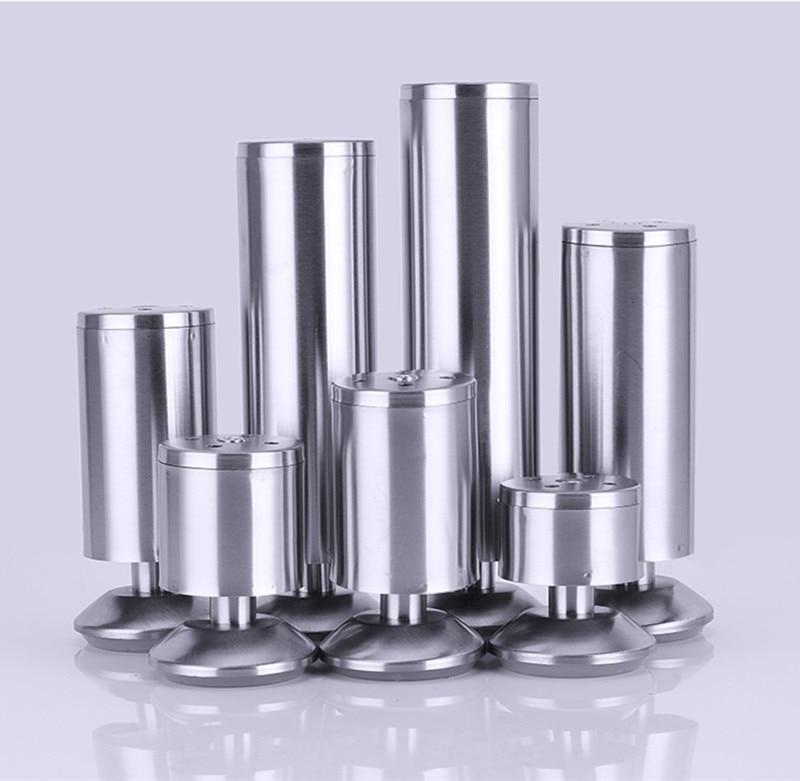 6-30cm Adjustable Stainless Steel Furniture Legs Cabinet Table Sofa Bed Feet Furniture Legs Feet