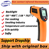 Infrared Thermometer (Not for Human) Temperature Gun Non-Contact Digital  Pyrometer Laser Thermometer-58℉ to 716℉ (-50 to 380℃) 1
