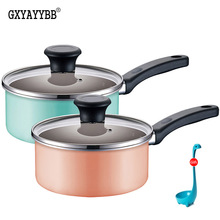 Korean style 16CM Milk pot Nonstick Pan Non-stick soup pot Cookware Frying Pan Saucepan General Use for Gas and Induction Cooker цена и фото