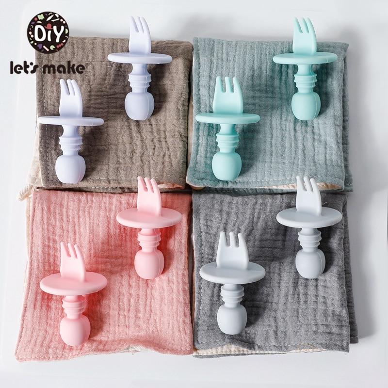1/2set Silikon Löffel Food Grade Silikon Nagetier Baby Fütterung Löffel Multicolor Junge Mädchen Kleinkind Fütterung Geschirr Kinder produkt