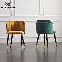 Modern resmi yemek sandalyeleri yaratıcı katı ahşap makyaj koltuğu avrupa kumaş ofis toplantı ofis dükkanı sandalye
