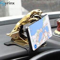 2020 Jaguar HUD Car Phone Holder Leopard Design Cellphone GPS Stand 360 Degree Mount Adjustable Clip Holder Accessories Support