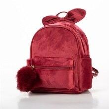 Children Bag Cartoon Plush Backpacks Kindergarten Schoolbag Bow-knot  School Bags Girls Backpack