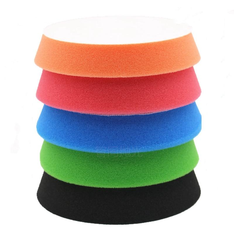 5 Inch Car Polishing Sponge Wheel 6 Inch Polishing Disc-Oblique Edge Sponge Grinding Reduction Disk 5 Piece Set