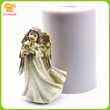 Windbreaker Angel Silicone Mould Chocolate Soft Ceramic Soap Candle Resin Tool Wings DIY