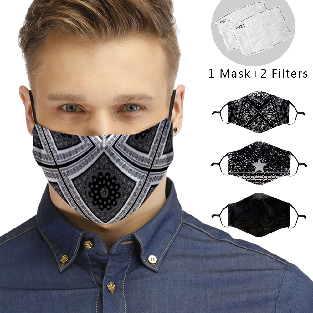 3D Reusable Mouth Mask Washable Man Protective PM2.5 Filter Mask Women Anti Dust Face Mask Windproof Mouth-muffle Anti Flu Mask