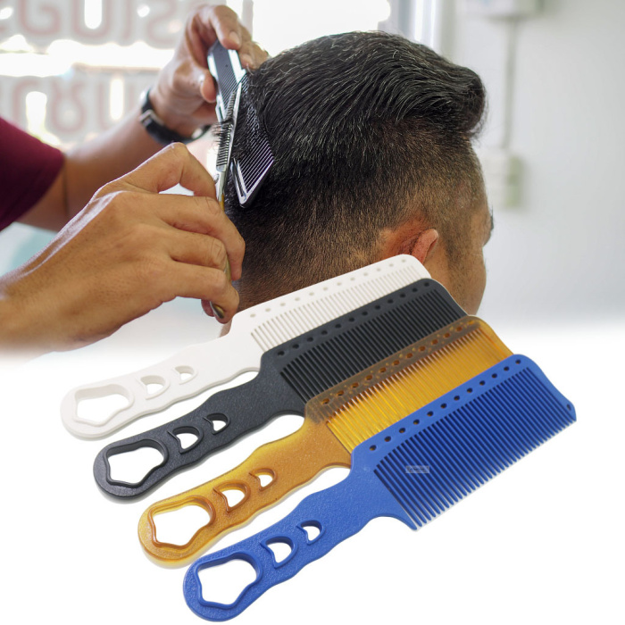 1pc Hairdresser Comb Salon Barber Hair Comb Crew Cut Bob Cut Mohawk Design Hair Styling Tools
