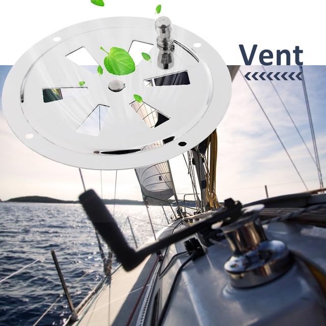 قارب تنفيس الفولاذ المقاوم للصدأ فراشة غطاء تهوية فتحة تهوية مستديرة ومقبض جانبي لليخوت البحرية RV الخ اكسسوارات للقوارب