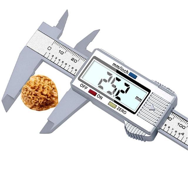 0-150mm Digital Vernier Calipers measure 6inch LCD Electronic Carbon Fiber Gauge height measuring instruments micrometer