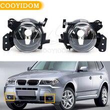 Cooyidom carro luzes de nevoeiro da frente para bmw e60 e90 e63 e46 323i 325i 525i halogênio led lâmpada nevoeiro montagem habitação lente