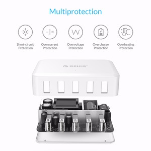 Image 3 - ORICO 5 Port USB Charger 8A 40W Universal Charger EU US UK AU Plug Mobile Phone Adapter for Huawei Samsung  Xiaomi Htc