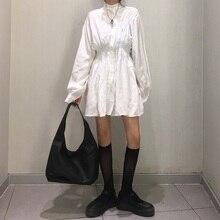 ¡Me encanta! Camisa blanca y negra con diseño Vintage, blusa con manga de linterna para Mujer