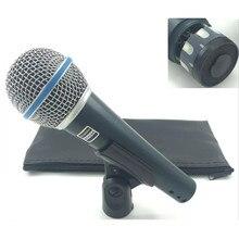באיכות גבוהה גרסת Beta 58a ווקאלי קריוקי כף יד דינמי Wired מיקרופון BETA58 Microfone מייק Beta 58 A Mi
