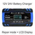FOXSUR 12V 24V 8A Auto Motorrad Batterie Ladegerät, Blei Säure AGM GEL NASS Smart Batterie Ladegerät, puls Reparatur Batterie Ladegerät
