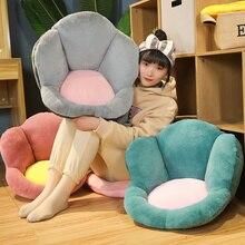 Kawaii Colorful Flowers Back Pillows Plush Chair Cushion Animal Child Seat Sofa Mat Home Sofa Indoor Floor Winter Decor Kid Gift