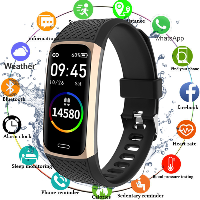 2020 Smart Bracelet Watch Men Women Blood Pressure Fitness Bracelet Heart Rate Monitor Fitness Tracker Waterproof Smart Band