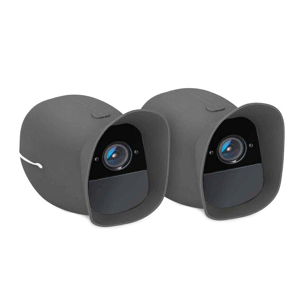 2 Pcs Protective Cover Soft Weatherproof Outdoor Security Wireless Camera Skin Anti Scratch Silicone Durable For Arlo Pro