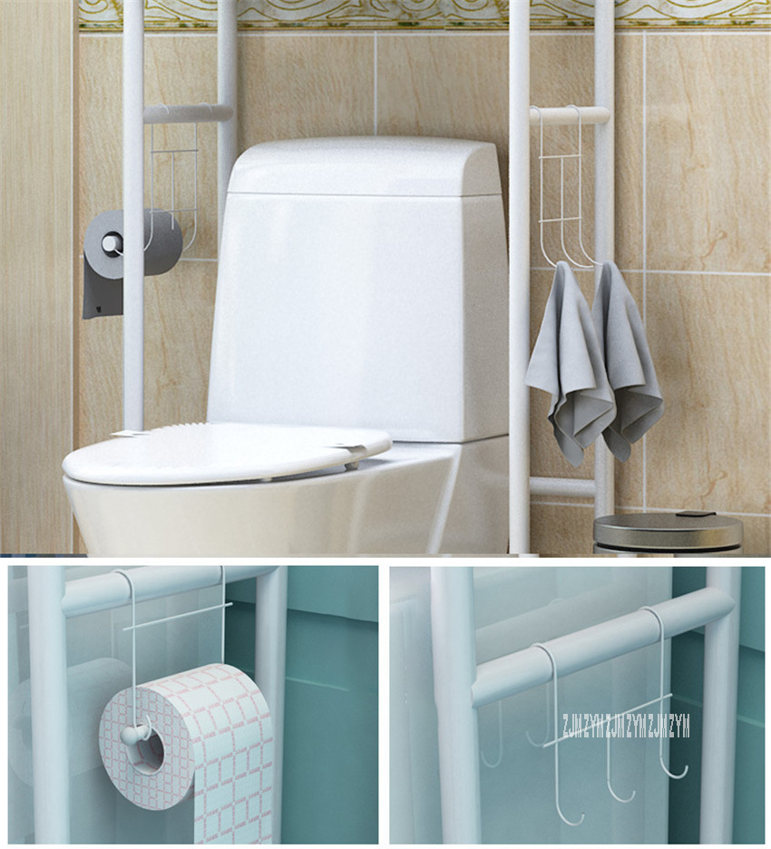 landing Type Bathroom Organizer Made With Metal Finish For Shampoo And Towel Accessory 16