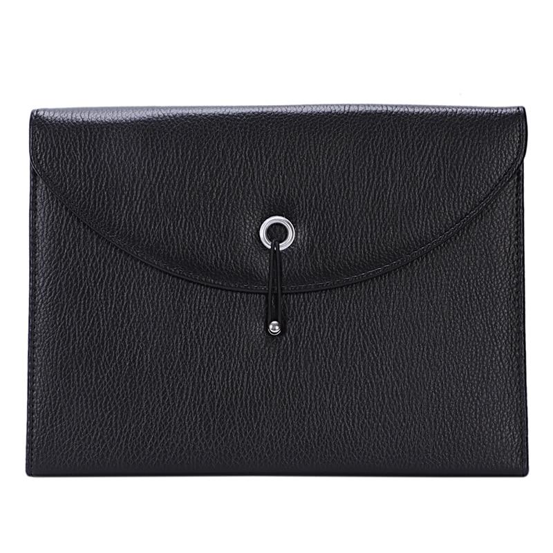Extensible Mallette Portable EN CUIR PU Organisateur de Fichier Sac A4 ET lettre Taille 13 poches (noir)