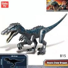 28cm Big Dinosaur Building Bricks Boys Heavy Claw Dragon Legoed Blocks Jurassic World Park Dinosaurs for Children Gifts