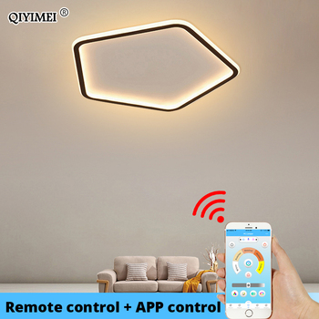 good quality clear ring led ceiling lamp crystals flush mounted living room lights lampara led techo for home fast shipping Modern Led Ceiling Lights For Living Room Bedroom Study Room White Black Indoor Ceiling Lamp Dimmable Lampara De Techo luminaire