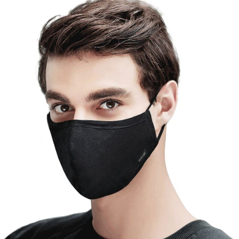 Cotton Black Mask mouth face Mask Anti PM2.5 dust Mouth Mask with 6pcs Activated Carbon Filter korean Mask Fabric Face Mask