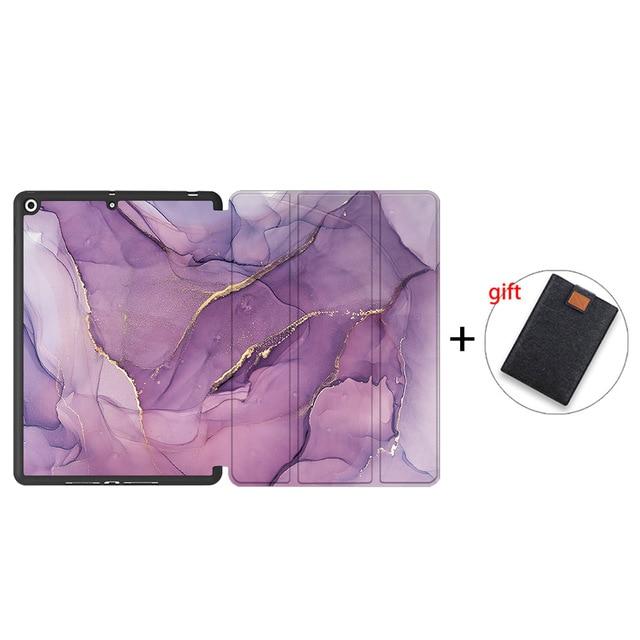 IPTPU04 Green MTT Soft TPU Back Case For iPad 10 2 inch 7th 8th Gen Marble PU Leather