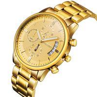 DUANTAI Luxury Brand Mens 풀 스틸 6 바늘 스톱 쿼츠 시계 남성 스포츠 시계