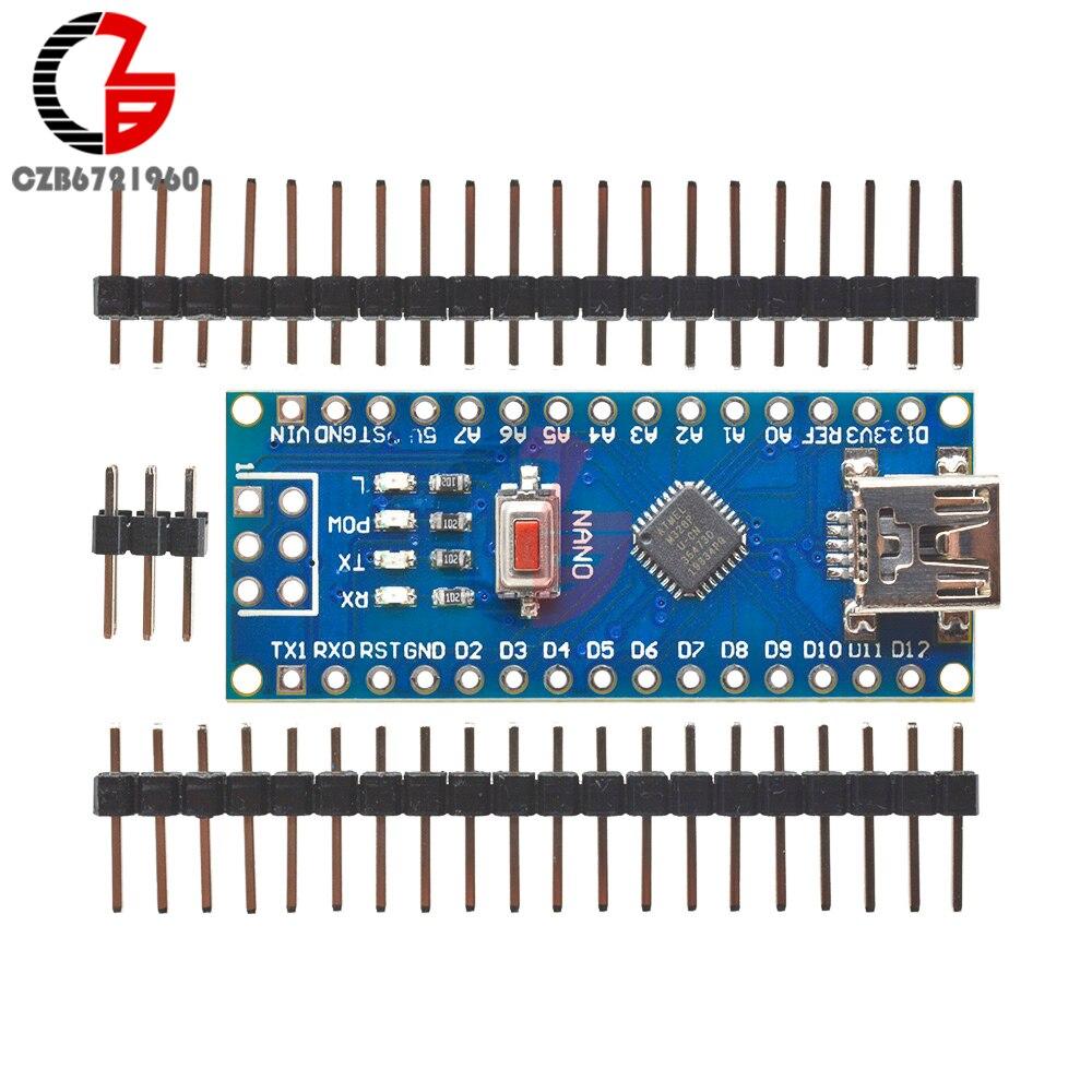 5PCS//Pack Nano V3.0 ATmega168 16M 5V Mini USB Mikrocontroller CH340G Für Arduino