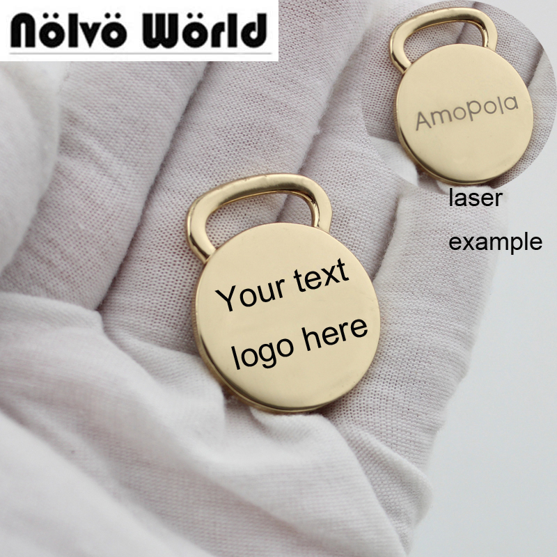 Personalized Laser Engraved Logo Cost Artistic Fonts Custom Order Engrave Your Brand Name Tag