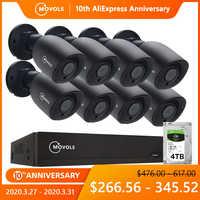 MOVOLS 5MP HD Sicherheit Kamera System 8CH H.265 DVR Outdoor Indoor video Überwachung kit Nachtsicht Wasserdichte CCTV System
