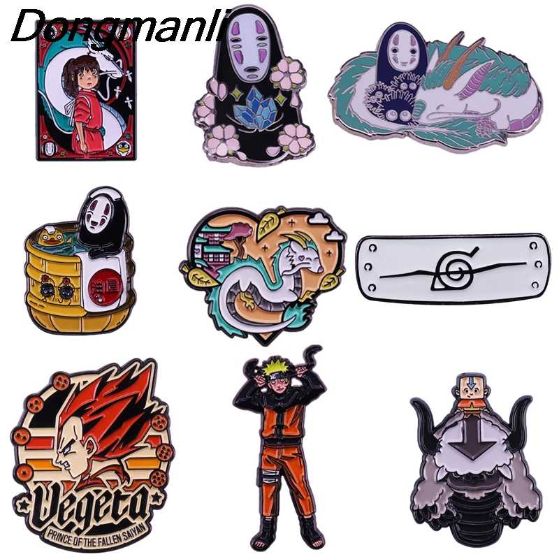 BG080 Naruto Emaille Pins En Broches Voor Revers Pin Rugzak Tassen Spirited Away Badge Anime Fans Decor 1Pcs