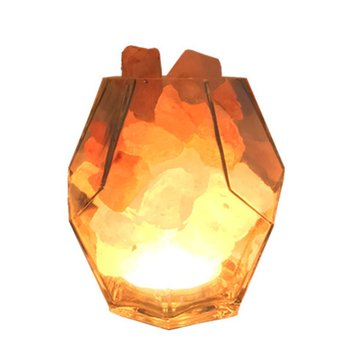 Bedroom bedside lamp warm table lamp Hand-blown glass Dimmable decorative night light Himalayan crystal salt lamp 1 Set modern luxurious chrome crystal table lamp bedroom light bedside lamp ball table lamp night light