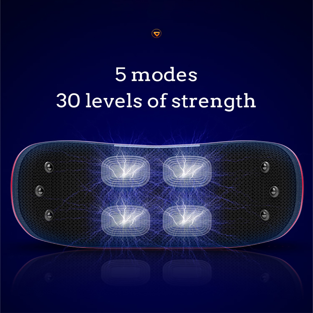 Electric Waist Lumbar Massager Hot Compress Lower Back Massage Device For Back Pain Relieve