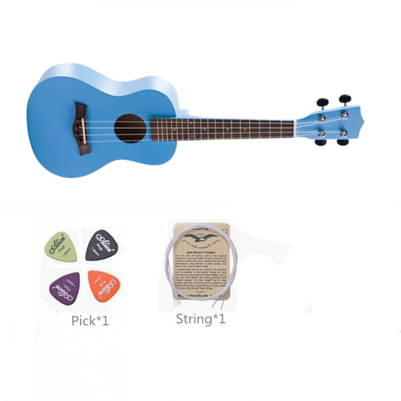 23 Inch Wooden Soprano Ukulele Beginner Hawaii 4 String Guitar Ukelele String Pick Suitable for Both Beginners and Children in Ukulele from Sports Entertainment