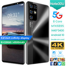 Teléfono Inteligente Note 30U, 2021 pulgadas, 4 + 5,8 GB, 18 + 21MP, cámara Global, batería de 128 mAh, LTE, 3G + 4G, UFS 4000, barato, 3,0