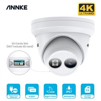 ANNKE 1PCS 4K Ultra HD POE IP Security Camera 8MP Outdoor Indoor Waterproof Network Dome EXIR Night Vision Email Alert CCTV Kit 1